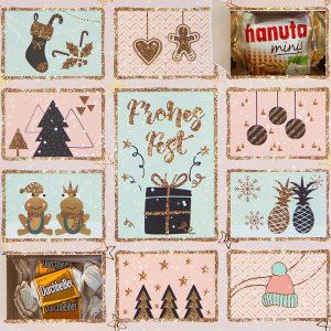 Adventskalender Winterzauber mit Süßigkeiten