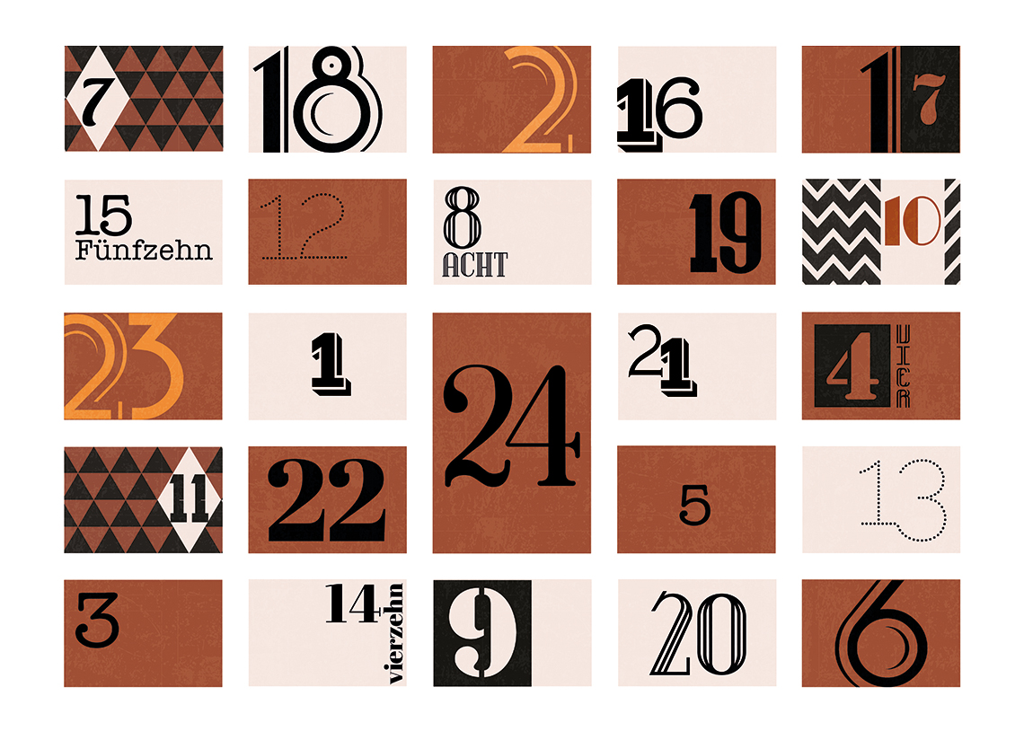Blanko Adventskalender Design